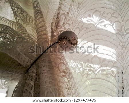 Window shade on a window #1297477495