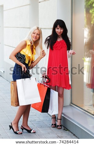 Window shopping - stock photo