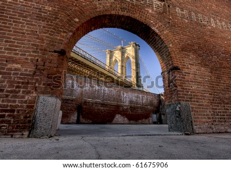 Window to Brooklyn Bridge