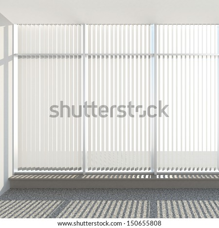 window vertical fabric blinds Stock photo ©