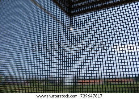 Window with a mosquito screen #739647817