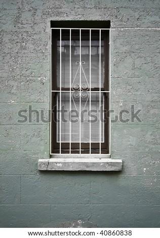 window with bars - stock photo
