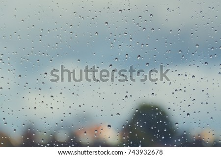 window with drops on it #743932678