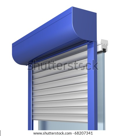 Window with rolling shutters system