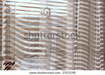 Window with white curtain in the daylight