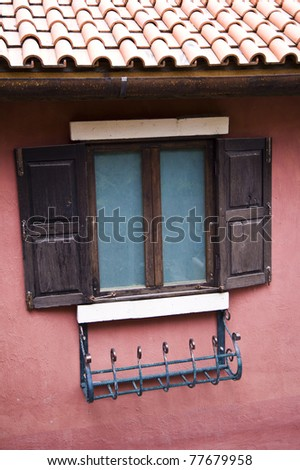 window wood on house