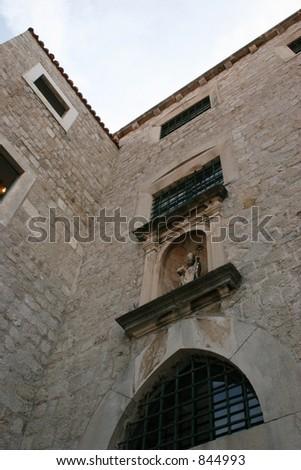 Windows in Dubrovnik, Croatia.