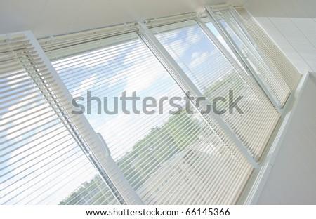 windows jalousie - stock photo