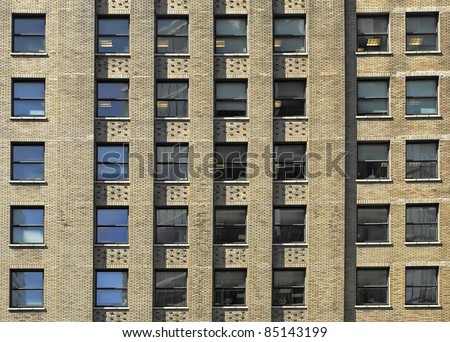 Windows of a modern office building