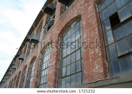 windows of an old cotton mill...