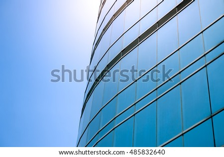 windows of business building  #485832640