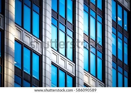 windows of business building  #586090589