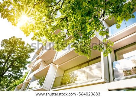 windows of modern white...