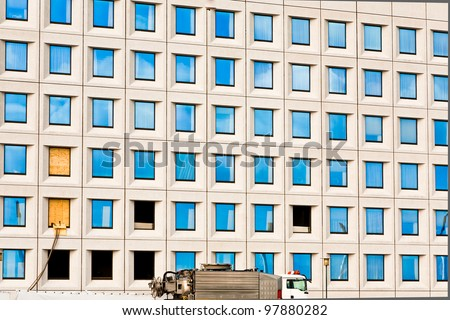 windows of office building, Copenhagen, Denmark