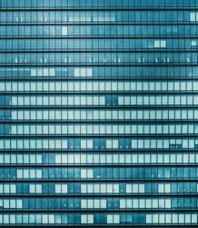 windows of office buildings in the background