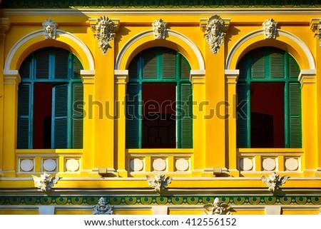Windows of Saigon Central Post Office, Ho Chi Minh City, Vietnam