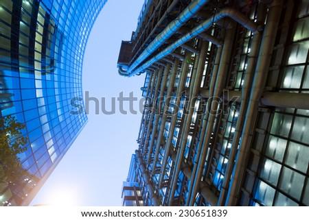 Windows of Skyscraper Business Office, Corporate building in London City, England, UK #230651839