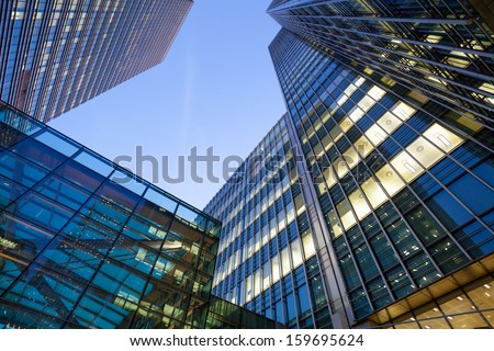 Windows of Skyscraper office building in London City  #159695624