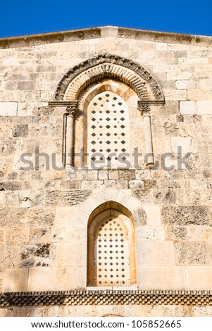 Windows of St Anne's Church, Jerusalem, Israel