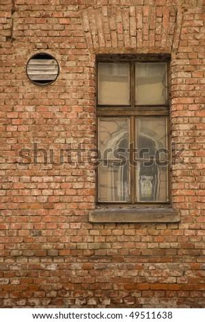 windows on brick building