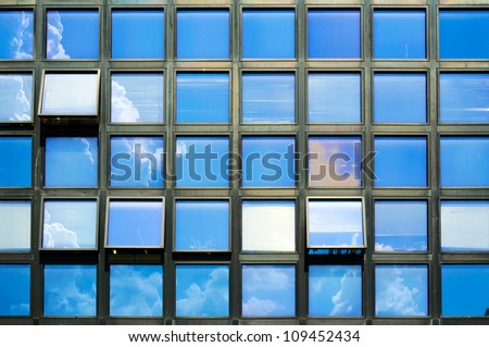 Windows with the skies background