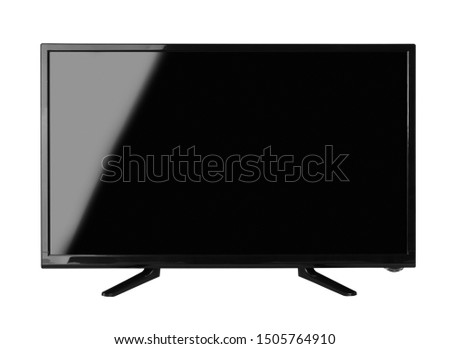 Windscreen led or lcd internet tv monitor isolated on white background #1505764910