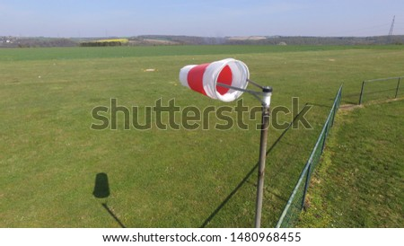 windsock on a windy day