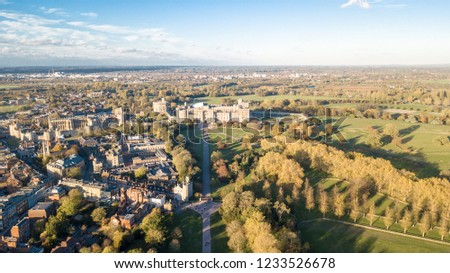 Windsor Castle from the Sky.  Windsor Castle is a royal residence at Windsor in the UK #1233526678