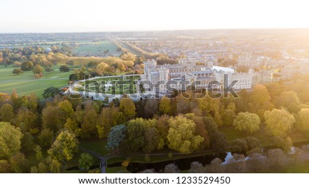 Windsor Castle from the Sky.  Windsor Castle is the oldest and largest occupied castle in the world.  #1233529450