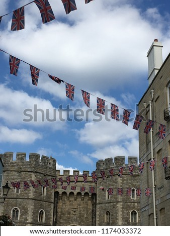 Windsor Castle in the historic town of Windsor on the River Thames, a residence of the British Royal Family, a venue for hosting state visits and a popular English tourist attraction #1174033372