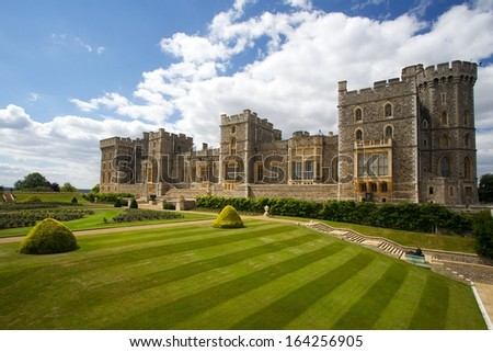 Windsor castle near London United Kingdom
