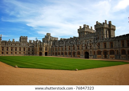 WINDSOR, ENGLAND - APRIL 27 : Windsor Castle pictured on April 27, 2008 in Windsor, England. It was built in 1066 by William the Conqueror and it is the longest-occupied palace in Europe.