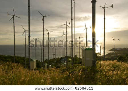 Windturbine in koh lan, pattaya,  thailand