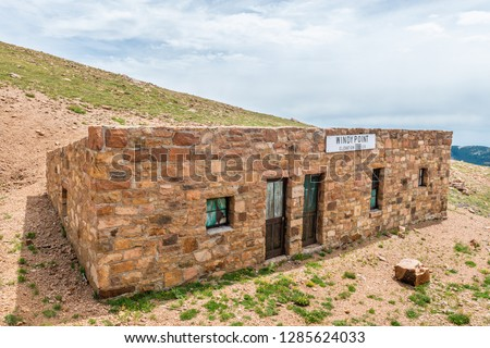 Windy Point building on Pikes Peak in Pike National Forest, Colorado #1285624033