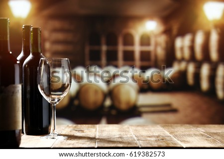 Wine and free space for your decoration