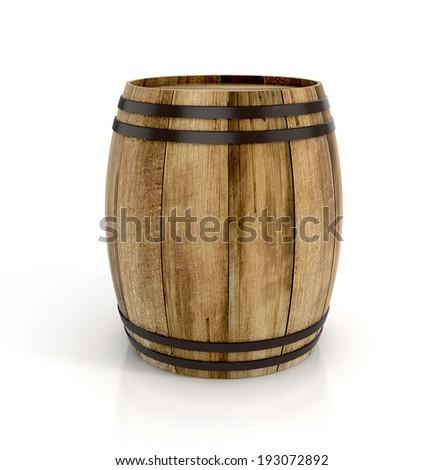wine barrel on white background....