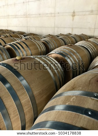 oak barrels stacked top. Wine Barrels Stacked For Aging. Oak Top