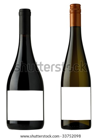 wine bottle for label design