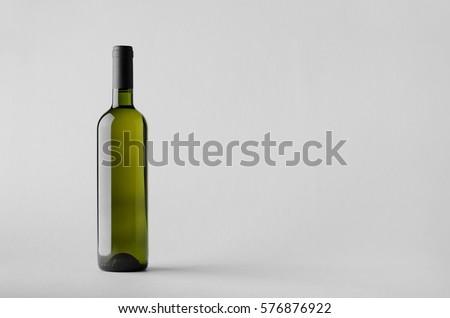 Wine Bottle Mock-Up #576876922