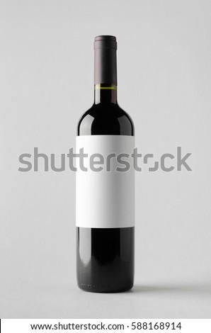Wine Bottle Mock-Up. Blank Label #588168914