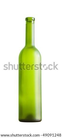 wine bottle on a white background, isolated