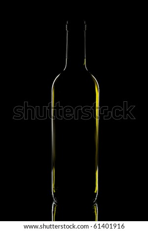 wine bottle on dark background