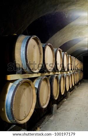 wine cellar, Buxy, Burgundy, France