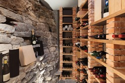 Wine cellar in luxury house