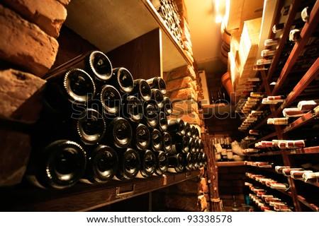 Wine cellar in small french restaraunt #93338578
