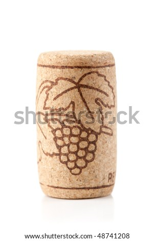Wine collection - Wine cork. Isolated on white background
