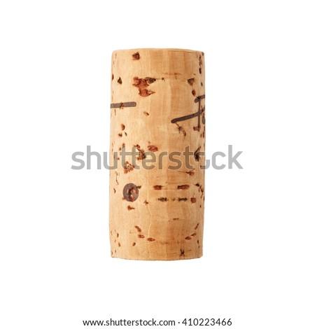 Wine cork isolated on white background