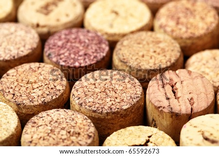 Wine corks close up. Sallow DOF!