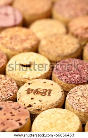 Wine corks close up. Sallow DOF!