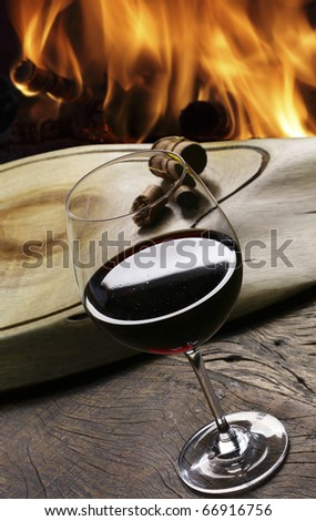 wine fireplace